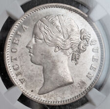 1840, India (British), Queen Victoria. Silver Rupee Coin. KM-458.1. NGC MS-61!