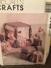 NEW MCCALL'S PATTERN MAKES FASHION/BARBIE DOLL FURNITURE