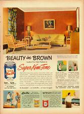 1951 Vintage ad for Super Kem-Tone Paint~retro living room scene (112813)