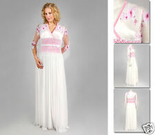 NEW Zaftique BELLA LACE GOWN Wedding Dress PINK / White 1Z 3Z / 16 24 / XL 1X 3X