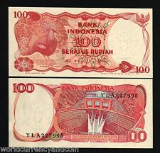 INDONESIA 100 RUPIAH P122 1984 BUNDLE PIGEON BIRD VICTORIA DAM UNC BILL 100 NOTE