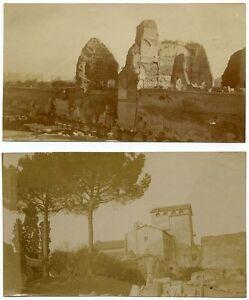 Lot four small original photos Rome Roman Campagna Location not identified 1900c