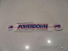 4X4 4WD RAW 4X4 POWERDOWN SHOCK GENUINE STICKER- BIG 285MM- ARB  TJM ABSORBERS
