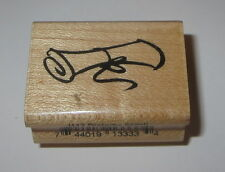 Diploma Scroll Rubber Stamp Graduation School College Graduate Education