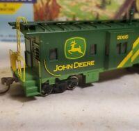 HO Athearn John Deere caboose car, for train set, RTR series, metal wheels