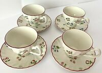 Johnson Brothers SWEETBRIAR set of 4 Teacups & Saucers, 8 pieces A+ condition