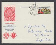 South Africa Sc 284, 1963 2½c Red Disa Orchid, Kirstenboch Gardens cacheted FDC