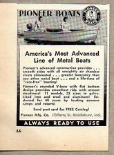 1951 Print Ad Pioneer Metal Boats Middlebury,IN