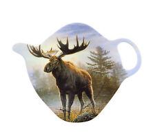 Moose Tea Bag Holder Ashdene New Melamine Teapot Shape Retired Design Rare