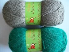 Alpaca Warehouse alpaca blend yarn, green/taupe, mixed lot of 2 (180 yds ea)