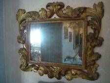 cadre, miroirs, rahmen, cornice in legno dorato a foglie dell'inizio del 1600