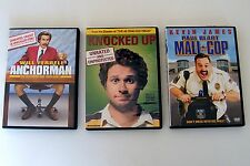 Lot of 3 DVDs Comedy Mall Cop Anchorman Knocked Up Blart Will Ferrell Seth Rogen
