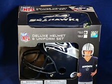 SEATTLE SEAHAWKS Halloween Costume - Kids SMALL Deluxe Youth UNIFORM SET