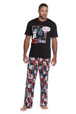 Mens Boys_Star Wars_Pyjamas_Darth Vader R2D2-T Shirt & Trousers-Medium-Disney