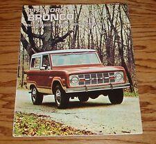 1973 Ford Bronco Foldout Sales Brochure 73