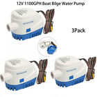 3PCS Marine 12V Auto Submersible 1100GPH Boat Bilge Water Pump with Float Switch photo