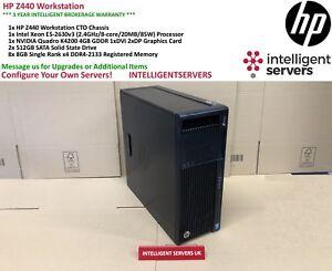 HP Z440 Workstation, Xeon E5-2630 V3, 64GB DDR4, 2x 512GB SSD, Quadro K4200
