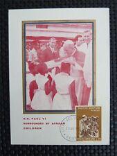 VATICAN MK 1969 PAPST PAUL POPE PAPA PAPIEZ MAXIMUMKARTE MAXIMUM CARD MC c4421