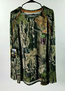 MOSSY OAK Mens BREAK-UP COUNTRY L/S Insect Repellent & Wicking Shirt Size L NWT