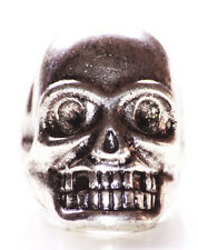 Ultra Edgy & Unique-chrome Skull Feature & Signet Style 6¼ Mm Metal Ring(Zx305)