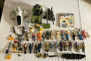 80's GI Joe Figures Vehicles lot Cobra Commander Zartan Shipwreck Slaughter Duke