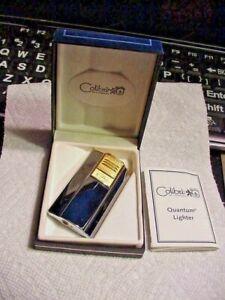 Colibri of London Gold & Silver Quantum Butane Lighter 2510  Box + Papers