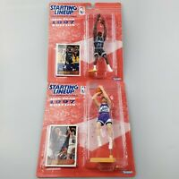New Lot of 2 - 1997 Starting Lineup John Stockton & Horace Grant - Magic & Jazz