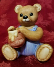 Vintage Homco Harvest Boy Bear With Honey 1425 Pristine Condition Made In Taiwan