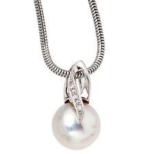 NEU Süßwasser Perlen Diamanten Anhänger echt Gold 585er Weißgold Kettenanhänger