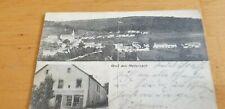 Alte AK  Gruß aus Medernach gel. 1914 Café Arry Kunnen und Gesamtansicht