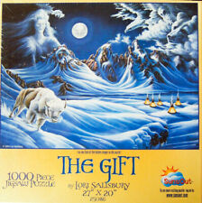 """RARE!  """"THE GIFT"""" by Lori Salisbury 1000-pc Puzzle (2004, SunsOut) -New, Sealed!"""