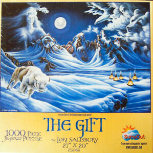 "RARE!  ""THE GIFT"" by Lori Salisbury 1000-pc Puzzle (2004, SunsOut) -New, Sealed!"