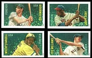 ☞ USA 2012 BASEBALL HEROES imperforated/NO DIE CUTS MNH SPORTS