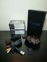 Sony Playstation 2 PS2 Phat Console Full setup Bundle SCPH-30003 X10 Games READ!