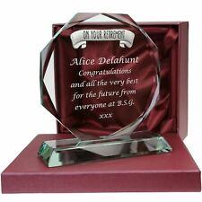 Personalised Female Retirement Cut Glass Gift Leaving Retire Retiring Gifts