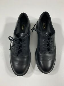 Clarks Witcombe Lace Leather Brogue Shoes Black Size 5
