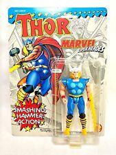 "ToyBiz Vintage 1991 Marvel Superheroes Thor w/ Mjolnir Hammer 5"" Action Figure"