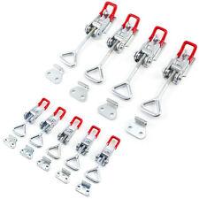 4/5 Set Edelstahl Spannverschluss Kistenverschluss Hebel-Verschluss abschließbar