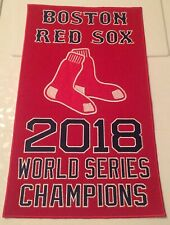 """Boston Red Sox 2018 World Series Champions Banner MLB 14"""" X 8.5"""" Embroidered"""