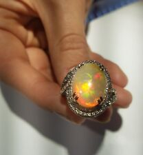LeVian Couture Ring Neapolitan Opal Chocolate Diamonds 18k Rose Gold Jewelry