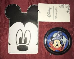 Disney Sorcerer Mickey Mouse Fantasia Compact Magnifying Mirror & Cardholder
