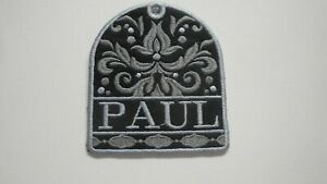 Personalized Bag Tag-Damask Design-Embroidered with Your Name-Great Gift Idea