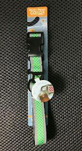Kurgo Reflect & Protect Night/Day Dog Collar -Green W/ Bottle Opener -Large