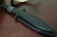 S&W BOOT KNIFE DAGGER W/ SHEATH CASE HUNTING BOWIE SMITH & WESSON FIXED BLADE