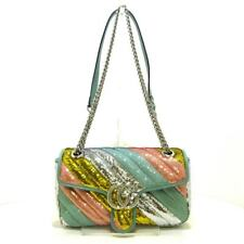 Auth GUCCI GG Marmont Small Sequin Shoulder Bag 443497