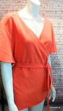 lipstick red wrap soft jacket top short sleeve 26 asos curve new