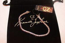 KENNETH JAY LANE CZ KJL Crystal Tennis Bracelet NWT