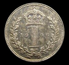 More details for edward vii 1906 silver maundy penny - unc