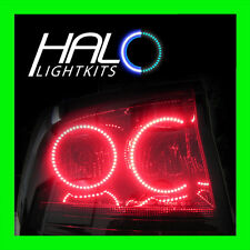 2006-2008 ORACLE DODGE CHARGER RED LED TAIL LIGHT HALO RING KIT 4 RINGS