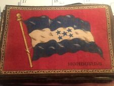 "Honduras 1910  Era Felt Flag From cigar Box ( 5.5"" X 8.5"")"